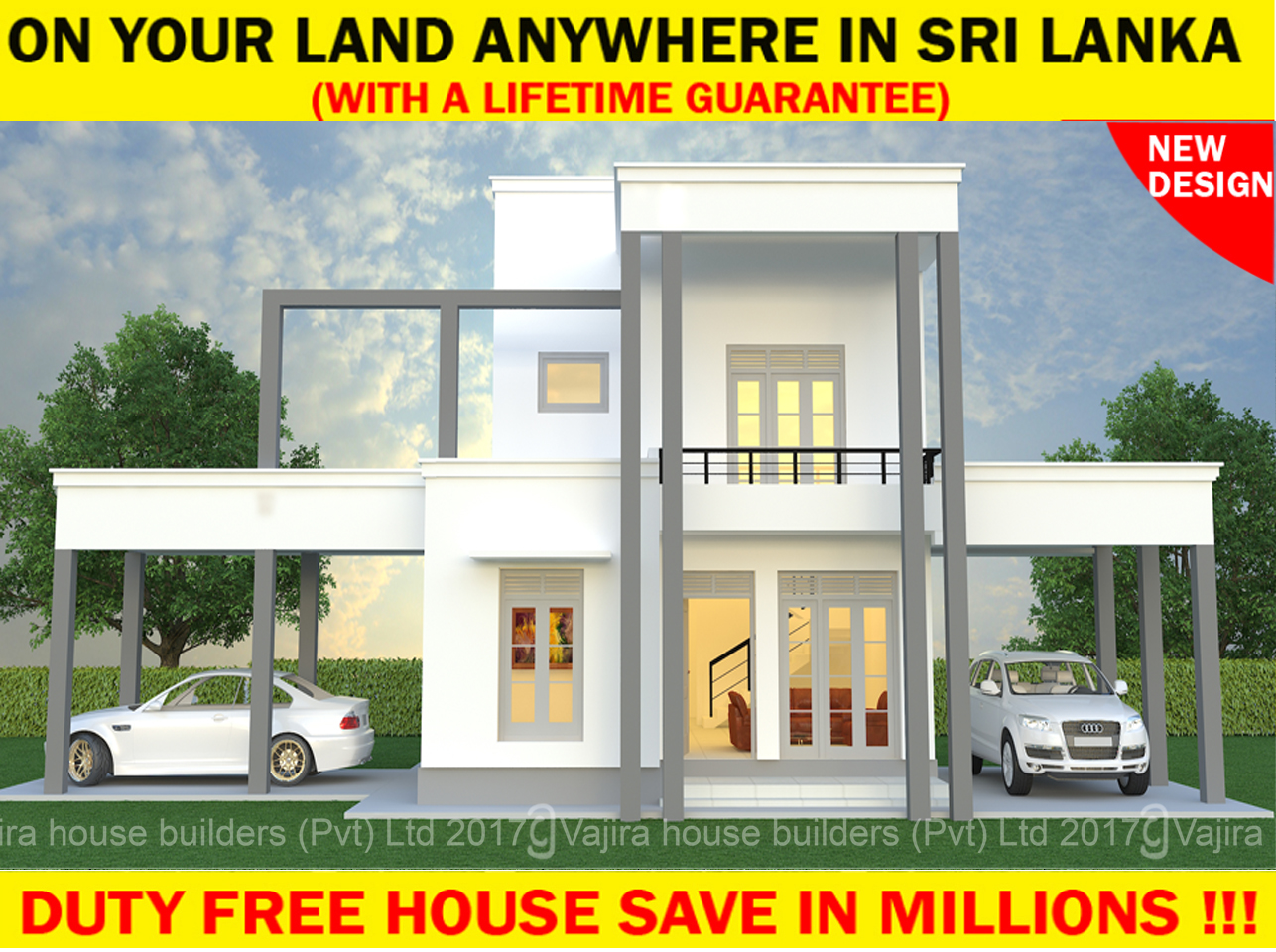 Vajira house plan in sri lanka for Normal house front design