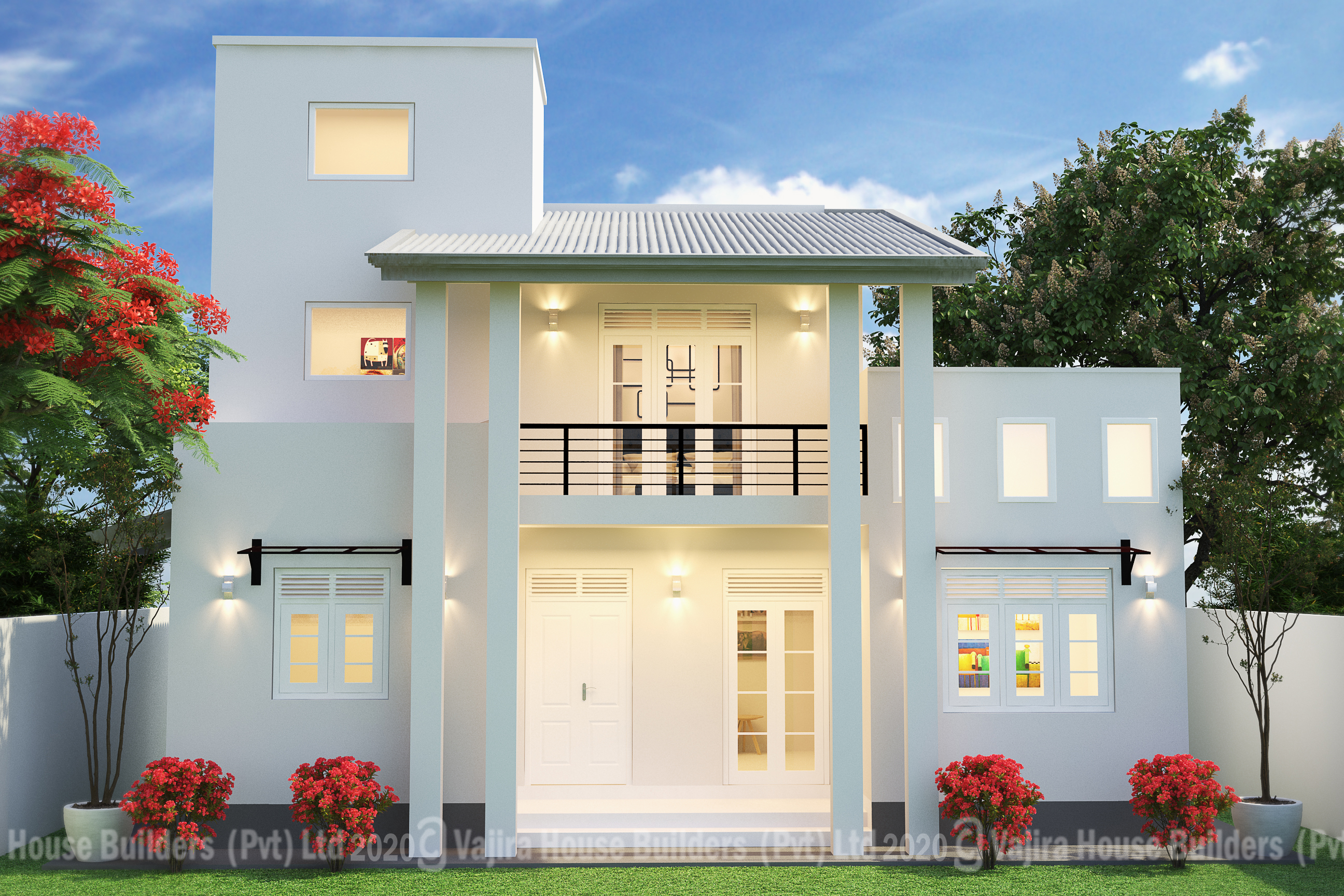 Two Storey Stories Vajira House Best House Builders Sri Lanka Building Construction